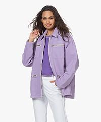 American Vintage Tineborow Twill Jacket - Mauve