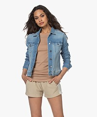 Denham Brooklyn Stretch Denim Jacket - Light Blue