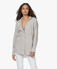 Woman by Earn Froukje Linen Blend Shirt - Sand