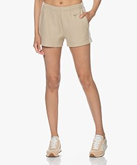 Rag & Bone City Mini Sweatshort met Zijstrepen - Warm Kaki