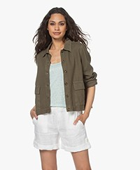 indi & cold Viscose Twill Jacket - Khaki