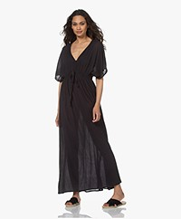 by-bar Crinkled Cotton Maxi Dress - Jet Black