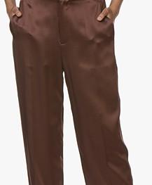 Joseph Jack Silk-satin Pants - Raisin