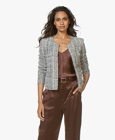 IRO Orlana Bouclé Blazer with Lurex - Grey