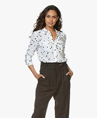 Equipment Slim Signature Washed-silk Blouse - Bright White