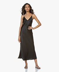 Joseph Clea Silk-satin Slip Dress - Black