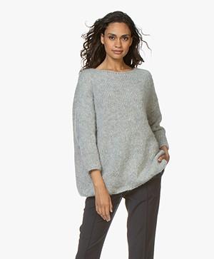 American Vintage Boolder Oversized Pullover - Mineral Melange