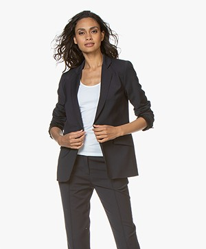 By Malene Birger Wool Blend Blazer - Night Sky