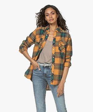 Ragdoll LA Flannel Checkered Shirt - Dark Yellow