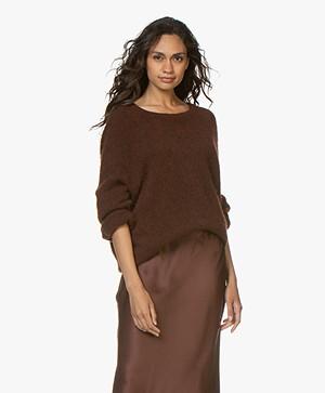 American Vintage Woxilen Oversized Sweater - Choco Melange