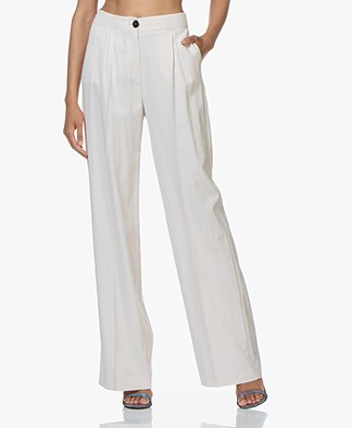 ba&sh Ross Lyocell Blend Wide-leg Pants - Foam