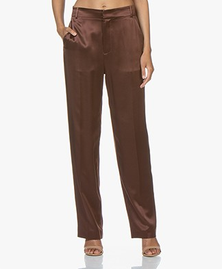 Joseph Jack Silk-satin Pants - Raisin