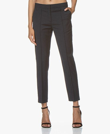 By Malene Birger Wool Blend Pants - Night Sky