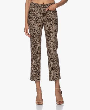 Drykorn Basket Luipaardprint Stretch Pantalon - Bruin/Zwart