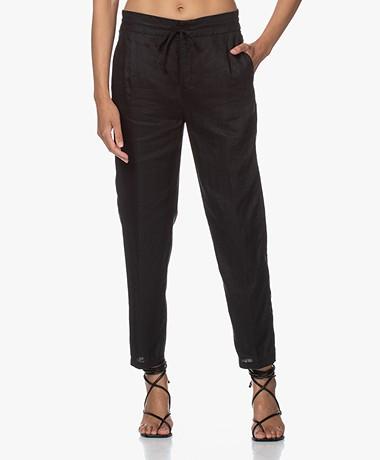 Drykorn Level Linen Loose-fit Pants - Black