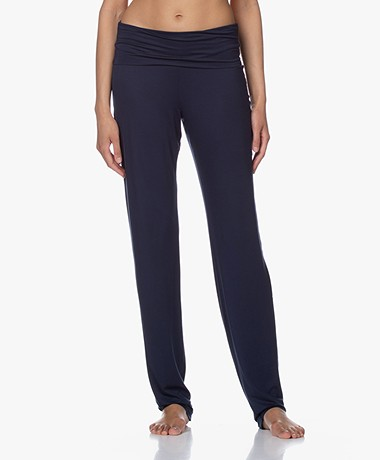 HANRO Modal Yoga Pants - Deep Navy