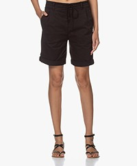 Drykorn Trainee Stretch Cotton Shorts - Black