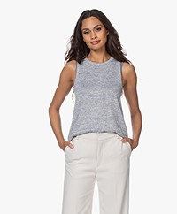 Rag & Bone The Knit Crew Tanktop - Lichtgrijs Mêlee