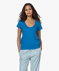 Rag & Bone The Slub U-neck T-shirt - Blue Royalty