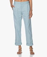 Drykorn Dispatch Linnenmix Pantalon - Lichtblauw