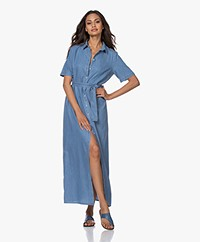 Denham Roxanne Denim Maxi Shirt Dress - Blue
