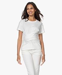 Rag & Bone Aimie Tie T-shirt - Off-white