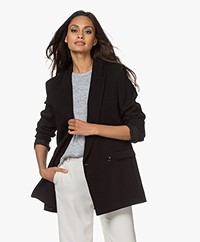 IRO Degree Oversized Double-breasted Blazer - Zwart