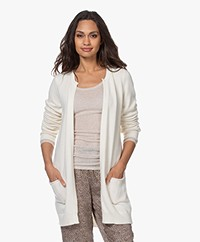 Resort Finest Nobile Cardigan in Cashmere Blend - Ecru