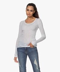 American Vintage Massachusetts Long Sleeve - Light Grey Melange