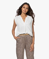 by-bar Star Viscose Crepe Top - Off-white