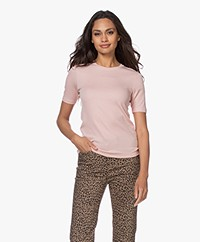 Rag & Bone The Rib Slim Modal Blend T-shirt - Mulberry Spritz