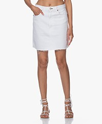 Rag & Bone Moss Denim Skirt - White