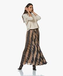 Mes Demoiselles Danish Satin Tie-dye Maxi-skirt - Brown