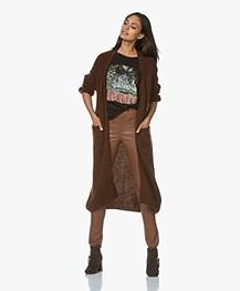 American Vintage Woxilen Alpacamix Open Vest - Choco Melange