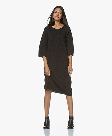 Sibin/Linnebjerg Lund Oversized Knitted Dress - Anthracite