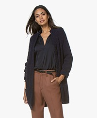 By Malene Birger Belinta Alpaca Blend Cardigan - Night Sky