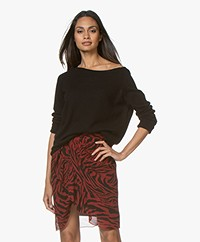 Majestic Filatures Cashmere Boatneck Sweater - Black