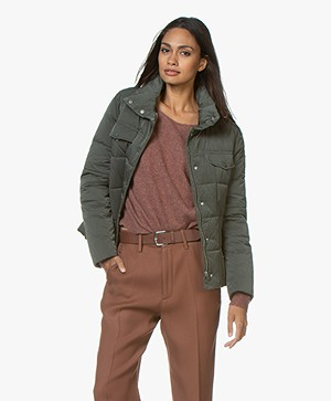 Closed Curve Quilted Down Jacket - Caper Green