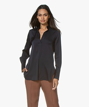 By Malene Birger Mabillon Silk Blouse - Night Sky