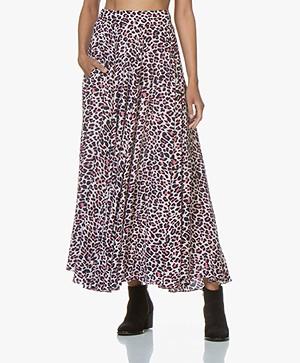 Zadig & Voltaire Joyo Leopard Print Maxi-skirt - Ecru