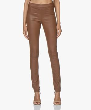 ba&sh Quartz Leather Pants - Cognac
