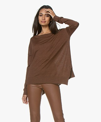 Closed Fine Knit Wool Sweater - Mud