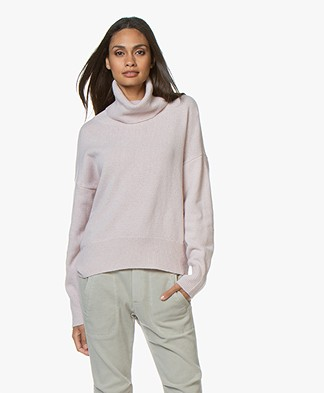 LaSalle Loose-fit Turtleneck Sweater in Wool and Cashmere - Aurora
