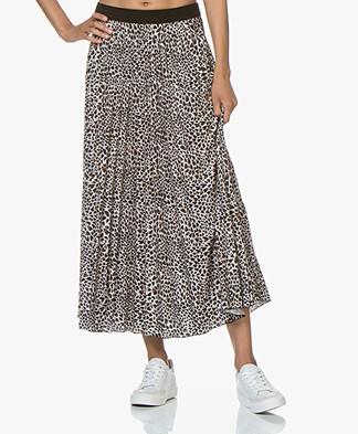 LaSalle Maxi Plisse Skirt with Print - Forrest