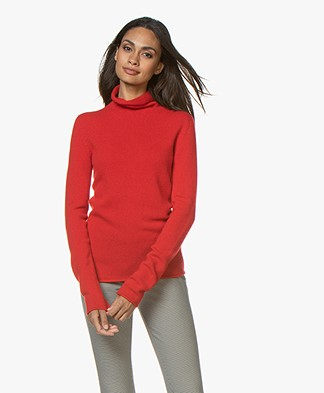 Majestic Filatures Turtleneck Sweater in Merino and Cashmere - Cherry