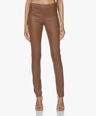 ba&sh Quartz Leather Pants - Cognac
