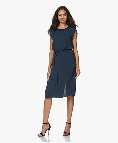 Joseph Dava Silk Crepe Georgette Dress - Petrol