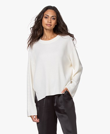 Drykorn Heleni Ribbed Wool Sweater - Papyrus