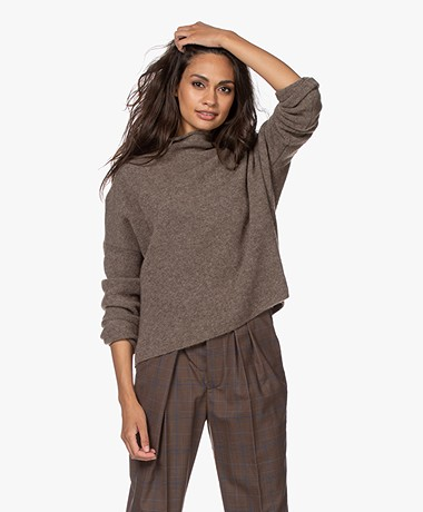 Filippa K Mika Yak Sweater - Dark Taupe