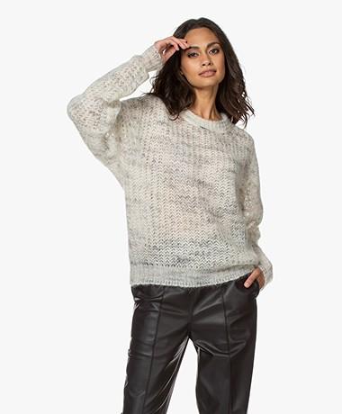 IRO Marlou Open Knitted Sweater - Mixed Ecru